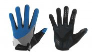 Giant Streak Gel Long Finger Gloves Blue